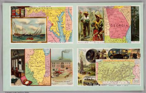 Maryland, Georgia, Illinois, Pennsylvania.