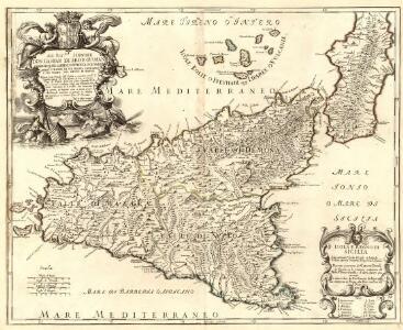Isola e Regno di Sicilia detta anticamte. Isola del Sole et Isola de Ciclopi, e poscia Trinacrita, Triquetra, e Sicania
