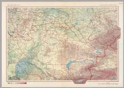 U.S.S.R. Kazakhstan - North and East.  Pergamon World Atlas.