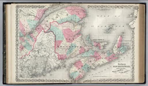New Brunswick, Nova Scotia.  Prince Edward Island. and Cape Breton Inland.