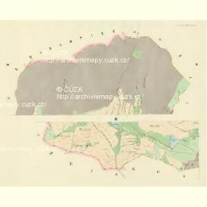 Klein-Hoschtitz (Maly Hosstice) - c2267-1-002 - Kaiserpflichtexemplar der Landkarten des stabilen Katasters