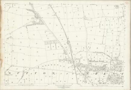 Nottinghamshire XXV.3 (includes: Grassthorpe; Sutton On Trent; Weston) - 25 Inch Map