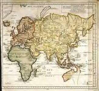 Nouvelle carte des parties orientales du monde