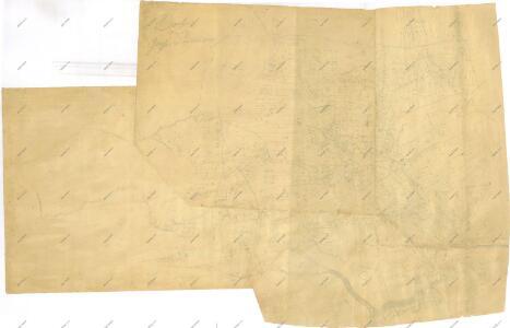 Záměrná mapa-brouillon vsi Pořežany s přilehlými pozemky