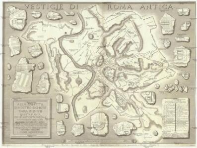 Alla santita di nostro signore papa Pio VII. qvesta pianta delle antichita di Roma nvovamente delineata