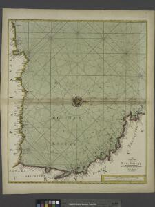 A large chart of the BAY OF BISCAY