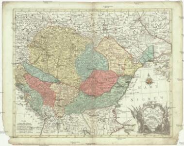 Tabula Hungaria et regionum, quae praaeterea ab ea dependent, delineata juxta magnum numerum an[n]otatium et mappas manuscriptas vel impressas