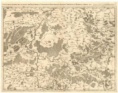 Carte particuliere des environs de Philippeville, Charlemont, Marienbourg, Rocroy, Charleville, Mezieres, Sedan, etc