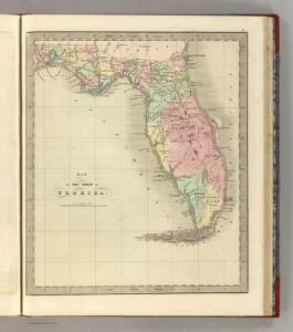 Map of the State of Florida.