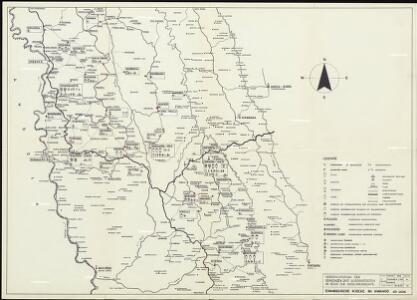 Evangelische Mission im Kwango, Rep ZaireUebersichtsplan der Gemeinden und Aussenposten im Bezug zur Siedlungsdichte