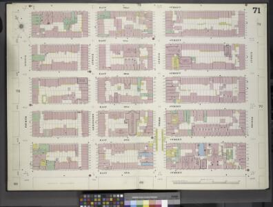 Manhattan, V. 4, Double Page Plate No. 71 [Map bounded by East 32nd St., 2nd Ave., East 27th st., 4th Ave.]