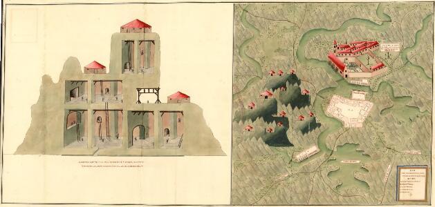Plan der Bergwergs Schwarz Rappen, in der Gosniz