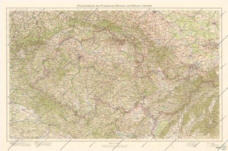 Übersichtskarte des Protektorats Böhmen und Mähren