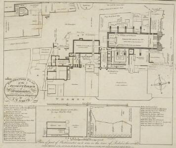 FOUNDATION PLAN of the ANCIENT PALACE of Westminster~ Measured, Drawn & Engraved by I. T. SMITH.