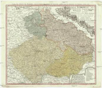 Regni Bohemiae, Dvc. Silesiae, Marchionatvvm Moraviae et Lvsatiae Tabula generalis
