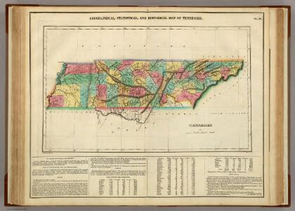 Map Of Tennessee.