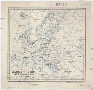 Mapka Europy podług nowych traktatów