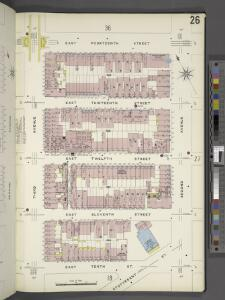 Manhattan, V. 2, Plate No. 26 [Map bounded by E. 14th St., 2nd Ave., E. 10th St., 3rd Ave.]