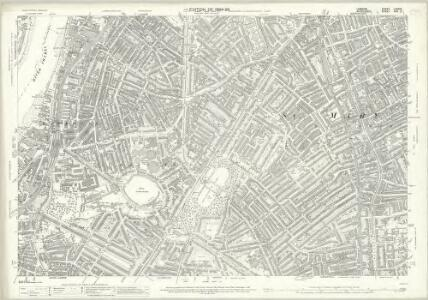 London (Edition of 1894-96) LXXXIX (includes: Lambeth St Mary; Southwark) - 25 Inch Map