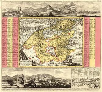 Geographischer Entwurff der Stadt und Gegend des Welt-berühmten Kaeyser Carlsbades in Königreich Böhmen vorstellent den Ellenbognischen Creiß sambt denen hie mit vermengten und angräntzenden Gegenden