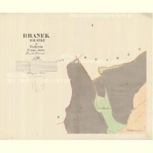 Branek (Branky) - m0204-1-001 - Kaiserpflichtexemplar der Landkarten des stabilen Katasters