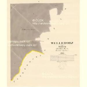Welleborz - m3296-1-005 - Kaiserpflichtexemplar der Landkarten des stabilen Katasters