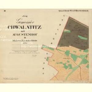 Cwalatitz - m0989-1-003 - Kaiserpflichtexemplar der Landkarten des stabilen Katasters