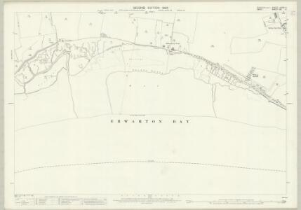 Suffolk LXXXIX.6 (includes: Erwarton; Ramsey; Shotley) - 25 Inch Map