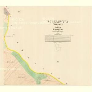 Scherowitz (Žerowic) - c9418-1-002 - Kaiserpflichtexemplar der Landkarten des stabilen Katasters