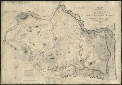 Map of the original town of Newbury, now divided into Newbury, Newburyport and West Newbury
