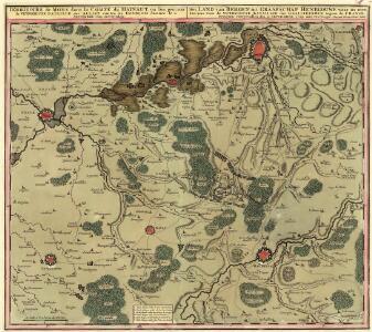 Territoire de Mons dans la Comté du Hainaut, ou l'on peut voir la Victorieuse Bataille des Alliez contre les François. donneé le 11. Septembre 1709. avec Privilege
