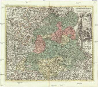 Palatinatus Bavariae vulgo die Obere Pfaltz in omnes ejusdem status et praefecturas accurate divisis