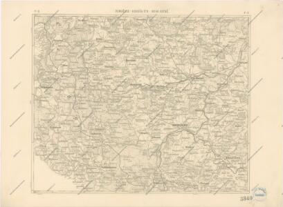 Podrobná místopisná mapa Království Českého