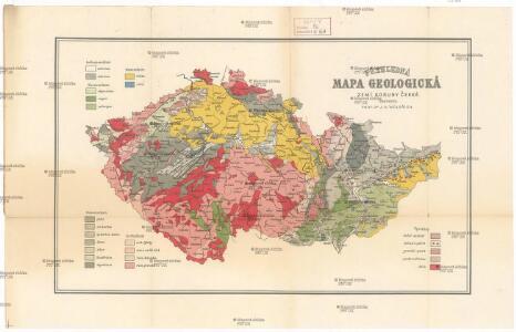 Přehledná mapa geologická zemí Koruny české