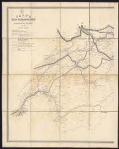 Carte du réseau télégraphique Suisse