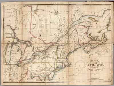 Map of the Seat of War in North America.