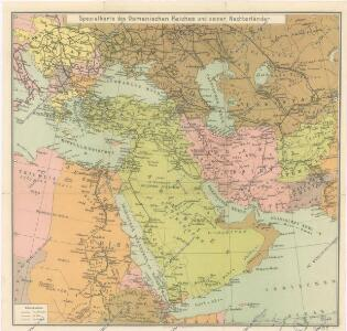 Spezialkarte des Osmanischen Reiches und seiner Nachbarländer