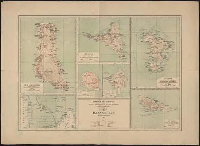 Carte des îles Comores