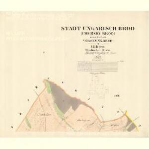 Ungarisch Brod (Uherski Brod) - m3197-1-001 - Kaiserpflichtexemplar der Landkarten des stabilen Katasters