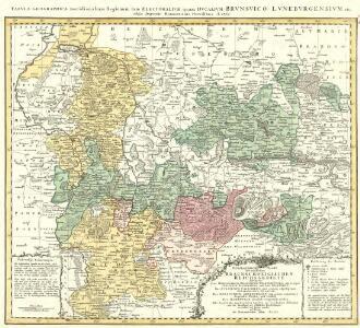 Geographische Lage der südlichen Braunschweigischen Reichsgebiete darinnen