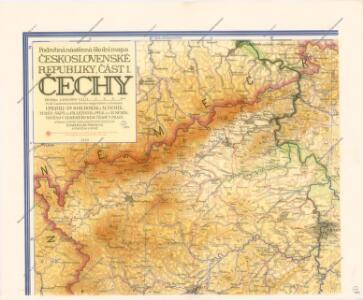Podrobná nástěnná školní mapa Československé Republiky, část 1.: Čechy