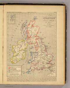 Angleterre, Ecosse, Irlande et Man en 1100.