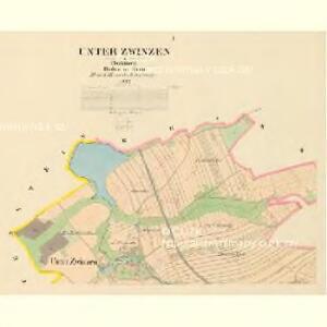Unter Zwinzen - c1396-1-001 - Kaiserpflichtexemplar der Landkarten des stabilen Katasters