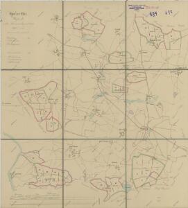 Mapa lesních cest v polesí Bzí 1