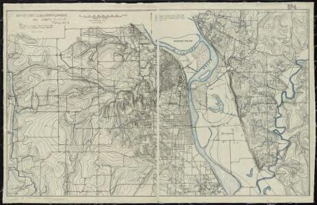 Map of Fort Leavenworth, Kansas and vicinity