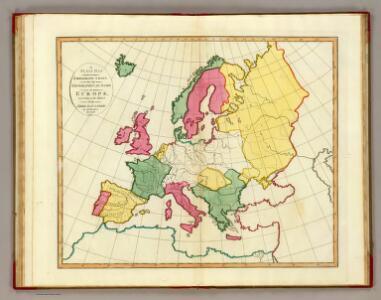 Plain map Europe.