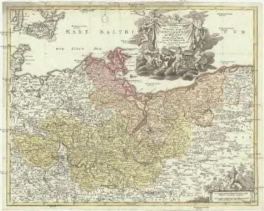 Tabvla marchionatvs Brandenbvrgici et dvcatvs Pomeraniae quae sunt pars septentrionalis circvli Saxoniae svperioris