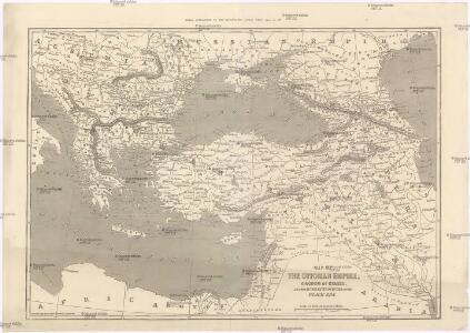 Map of the Ottoman Empire, Kingdom of Greece, and the russian provinces on the Black Sea