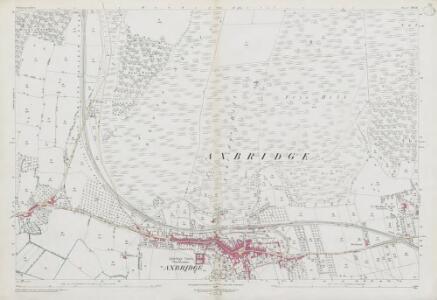 Somerset XVII.16 (includes: Axbridge; Cheddar; Compton Bishop) - 25 Inch Map