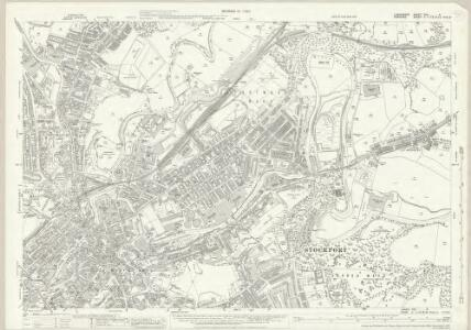Lancashire CXII.9 (includes: Bredbury And Romiley; Stockport) - 25 Inch Map